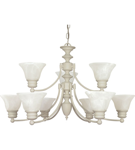 Nuvo Lighting Empire 9 Light Chandelier in Textured White 60/363 photo