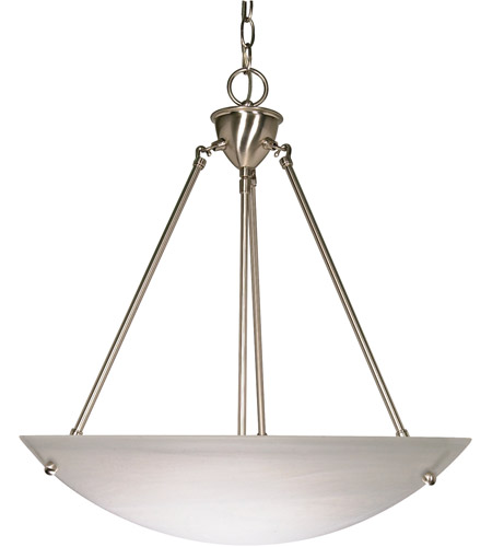 Nuvo 60/370 Signature 3 Light 23 inch Brushed Nickel Pendant Ceiling Light photo