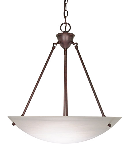 Nuvo 60371 signature 3 light 23 inch old bronze pendant ceiling light mozeypictures Choice Image