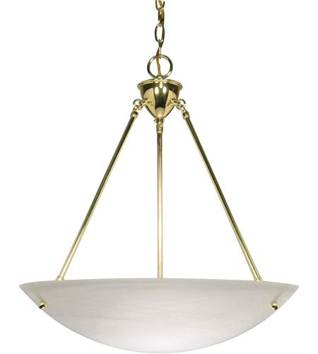 Nuvo 60/372 Signature 3 Light 23 inch Polished Brass Pendant Ceiling Light photo