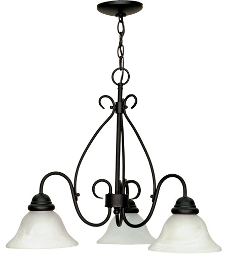 Nuvo Lighting Castillo 3 Light Chandelier in Textured Black 60/378 photo