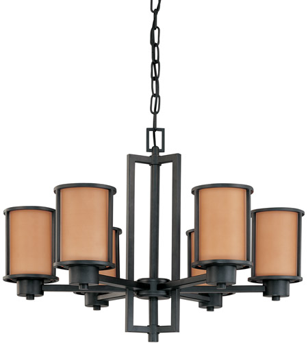Nuvo Lighting Odeon 6 Light Chandelier in Aged Bronze 60/3826 photo