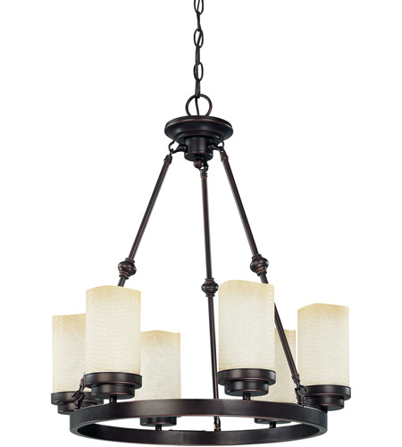 Nuvo Lighting Lucern 6 Light Chandelier in Patina Bronze 60/3845 photo