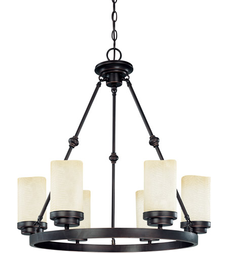 Nuvo Lighting Lucern 6 Light Chandelier in Patina Bronze 60/3846 photo