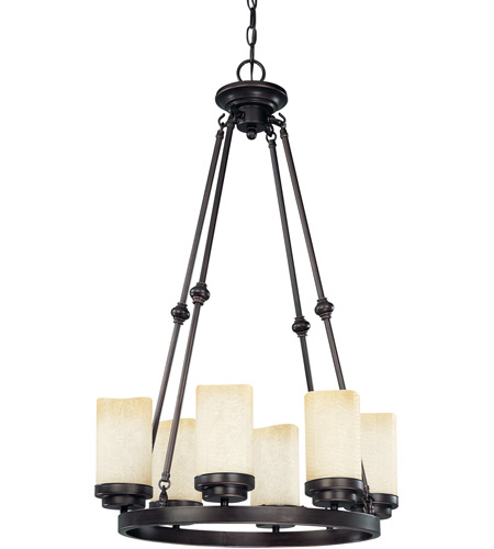Nuvo Lighting Lucern 6 Light Chandelier in Patina Bronze 60/3847 photo