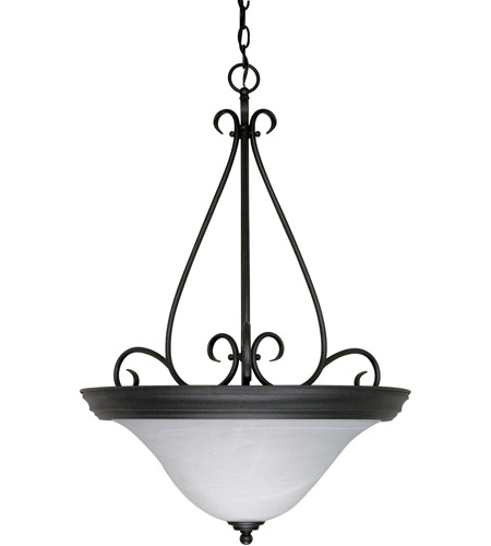 Nuvo Lighting Castillo 3 Light Pendant in Textured Black 60/385 photo