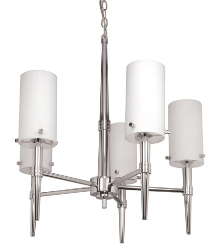 Nuvo Lighting Jet 5 Light Chandelier in Polished Chrome 60/3865 photo