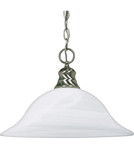 Nuvo 60/390 Signature 1 Light 16 inch Brushed Nickel Pendant Ceiling Light photo