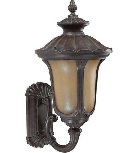 Nuvo 60/3901 Beaumont 1 Light 28 inch Fruitwood Outdoor Wall Lantern photo