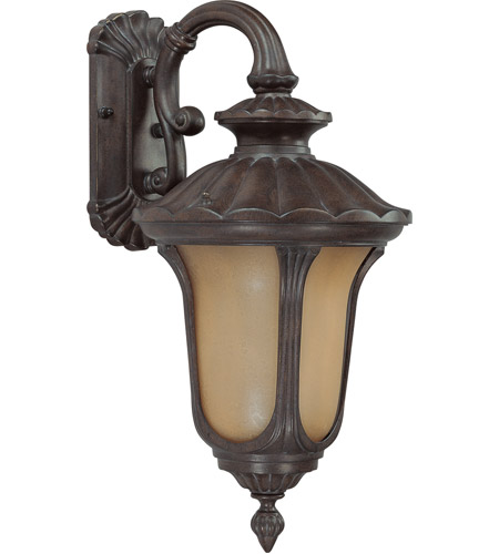 Nuvo Lighting Beaumont 1 Light Outdoor Wall with Photocell Lantern in Fruitwood 60/3902 photo