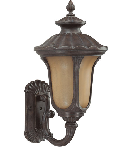 Nuvo 60/3903 Beaumont 1 Light 22 inch Fruitwood Outdoor Wall Lantern photo