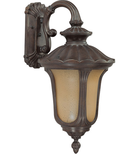 Nuvo 60/3906 Beaumont 1 Light 19 inch Fruitwood Outdoor Wall Lantern photo