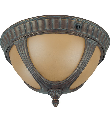 Nuvo 60/3907 Beaumont 2 Light 13 inch Fruitwood Outdoor Flushmount photo