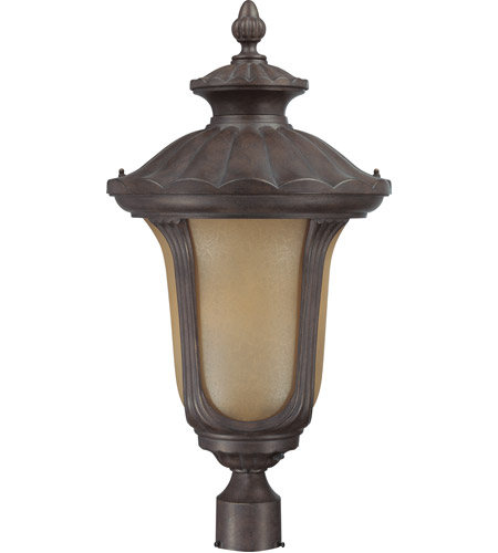 Nuvo Lighting Beaumont 1 Light Outdoor Post Lantern with Photocell in Fruitwood 60/3911 photo
