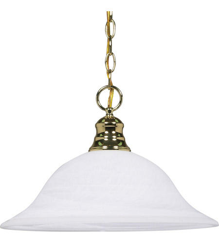 Nuvo Lighting Signature 1 Light Pendant in Polished Brass 60/392 photo