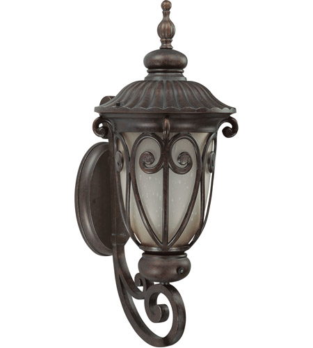 Nuvo Lighting Corniche 1 Light Outdoor Wall Lantern with Photocell in Burlwood 60/3923 photo