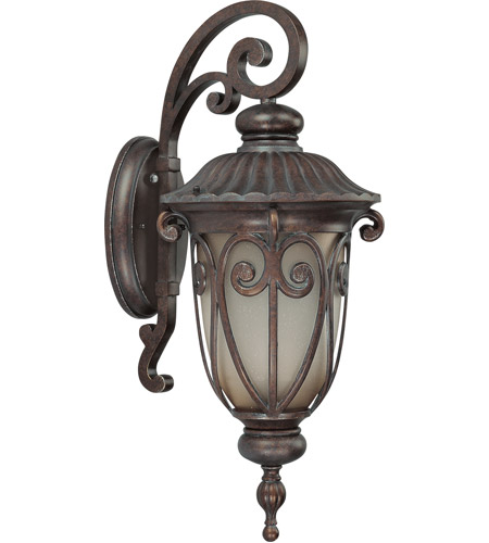 Nuvo 60/3924 Corniche 1 Light 23 inch Burlwood Outdoor Wall Lantern photo