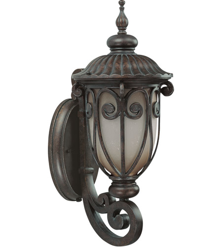 Nuvo Lighting Corniche 1 Light Outdoor Wall Lantern with Photocell in Burlwood 60/3925 photo