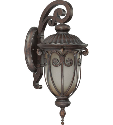 Nuvo 60/3926 Corniche 1 Light 18 inch Burlwood Outdoor Wall Lantern photo