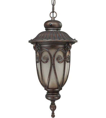 Nuvo Lighting Corniche 1 Light Outdoor Hanging Lantern with Photocell in Burlwood 60/3928 photo