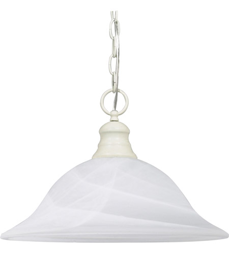 Nuvo 60/393 Signature 1 Light 16 inch Textured White Pendant Ceiling Light photo