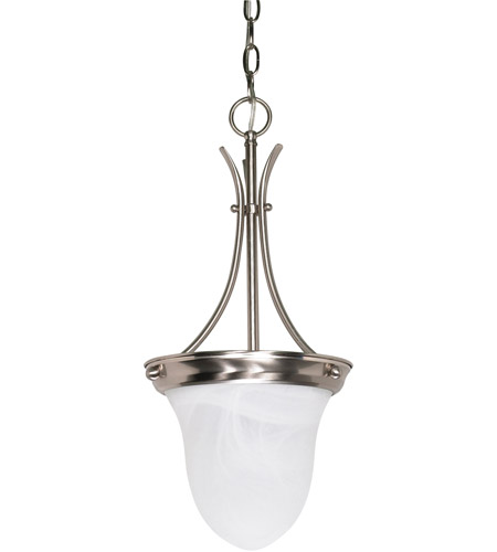 Nuvo 60/394 Signature 1 Light 10 inch Brushed Nickel Pendant Ceiling Light photo