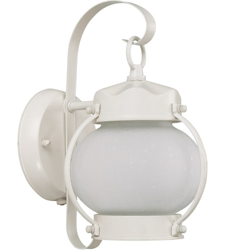 Nuvo 60/3941 Signature 1 Light 11 inch White Outdoor Wall Lantern photo