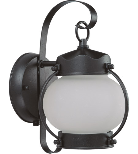 Nuvo Lighting Signature 1 Light Outdoor Wall Lantern with Photocell in Textured Black 60/3943 photo
