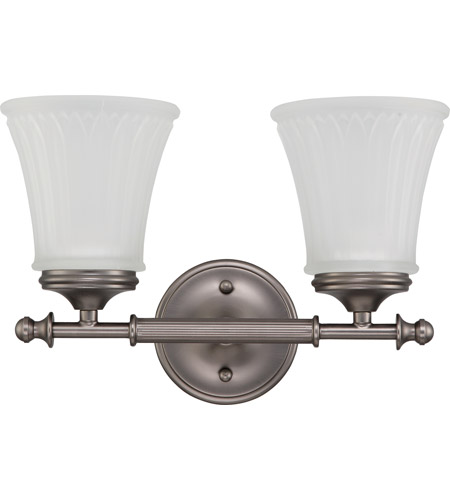 Nuvo 60/4012 Teller 2 Light 14 inch Aged Pewter Vanity & Wall Wall Light photo