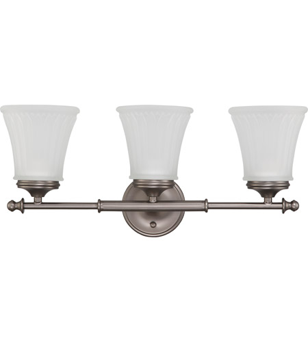Nuvo 60/4013 Teller 3 Light 21 inch Aged Pewter Vanity & Wall Wall Light photo