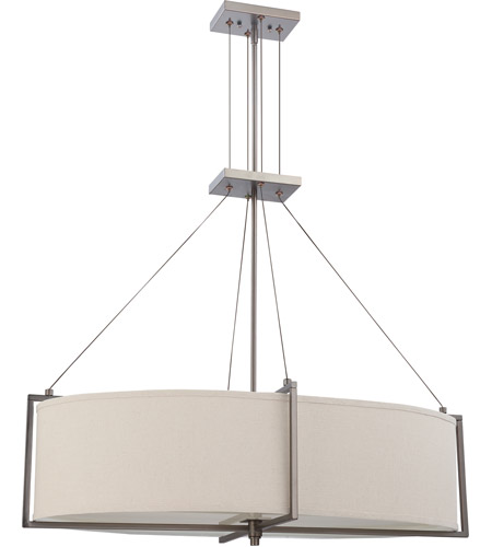 Nuvo Lighting Portia 6 Light Pendant in Hazel Bronze 60/4046 photo