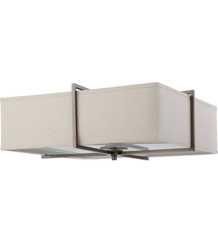 Nuvo Lighting Logan 4 Light Flushmount in Hazel Bronze 60/4069 photo