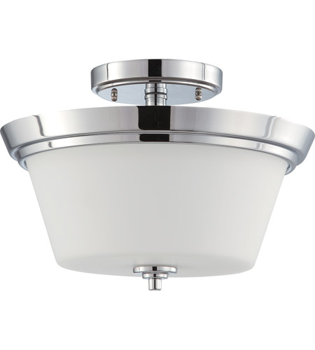 Nuvo Lighting Bento 2 Light Semi-Flush in Polished Chrome 60/4087 photo