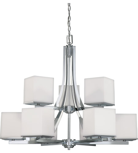 Nuvo Lighting Bento 9 Light Chandelier in Polished Chrome 60/4089 photo