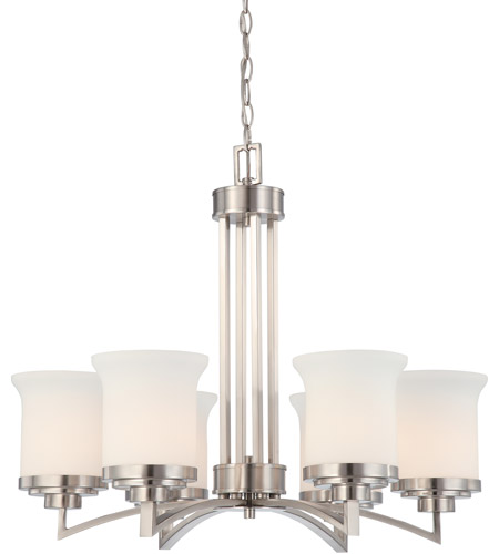 Nuvo 60/4105 Harmony 6 Light 26 inch Brushed Nickel Chandelier Ceiling Light photo