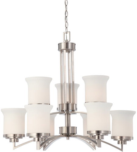 Nuvo Lighting Harmony 9 Light Chandelier in Brushed Nickel 60/4109 photo