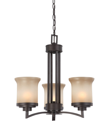 Nuvo 60/4124 Harmony 3 Light 20 inch Dark Chocolate Bronze Chandelier Ceiling Light photo