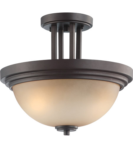 Nuvo Lighting Harmony 2 Light Semi-Flush in Dark Chocolate Bronze 60/4127 photo