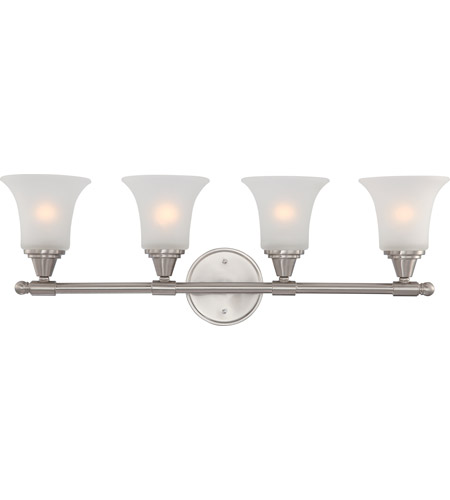 Nuvo 60/4144 Surrey 4 Light 30 inch Brushed Nickel Vanity & Wall Wall Light photo