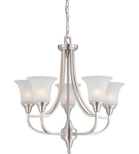 Nuvo 60/4146 Surrey 5 Light 24 inch Brushed Nickel Chandelier Ceiling Light photo