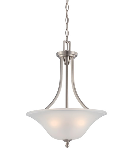 Nuvo 60/4147 Surrey 3 Light 16 inch Brushed Nickel Pendant Ceiling Light photo