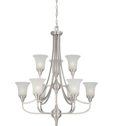 Surrey 9 Light 32 Inch Brushed Nickel Chandelier Ceiling