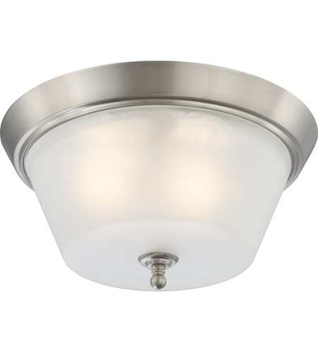 Nuvo 60/4153 Surrey 3 Light 16 inch Brushed Nickel Flushmount Ceiling Light photo