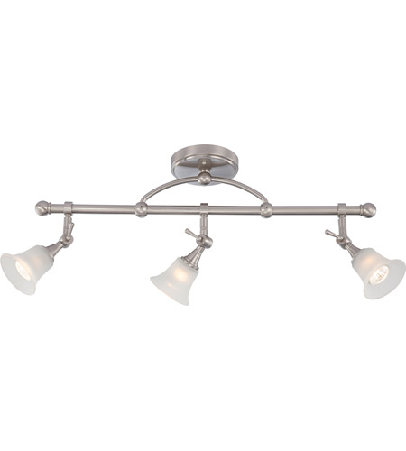 Nuvo 604154 surrey 3 light brushed nickel fixed track bar ceiling light nuvo 604154 surrey 3 light brushed nickel fixed track bar ceiling light photo mozeypictures Image collections