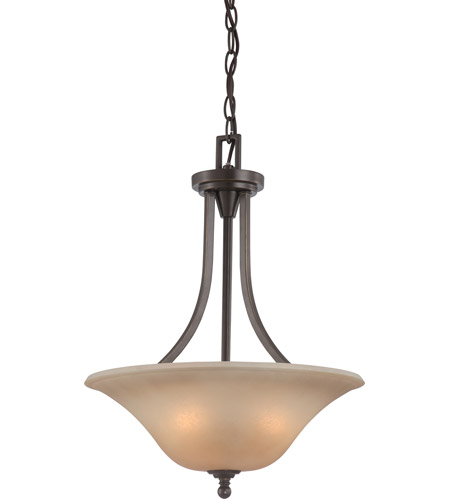 Nuvo 60 4167 Surrey 3 Light 16 Inch Vintage Bronze Pendant Ceiling