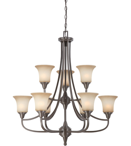 Nuvo Lighting Surrey 9 Light Chandelier in Vintage Bronze 60/4169 photo