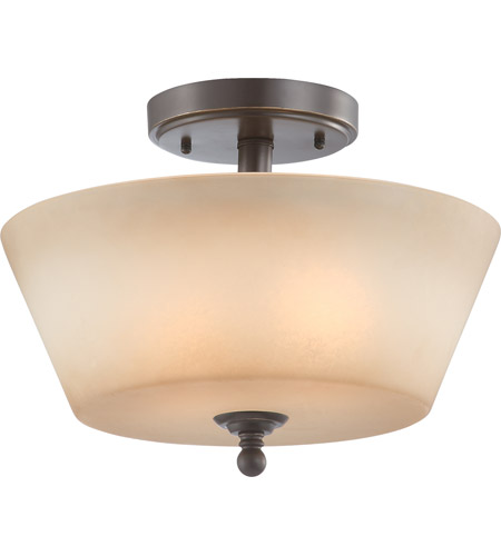 Nuvo Lighting Surrey 2 Light Semi-Flush in Vintage Bronze 60/4171 photo