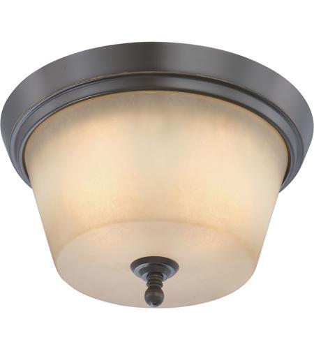 Nuvo 60 4172 Surrey 2 Light 13 Inch Vintage Bronze Flushmount Ceiling