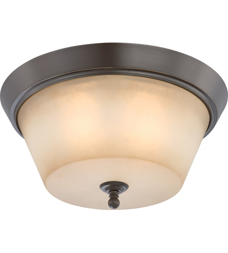 Nuvo 60/4173 Surrey 3 Light 16 inch Vintage Bronze Flushmount Ceiling Light photo
