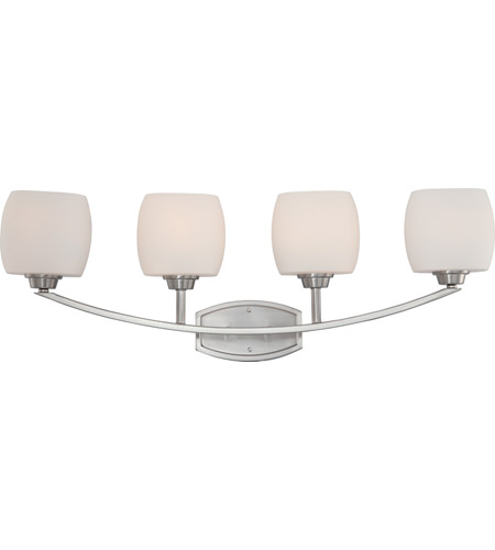 Nuvo Lighting Helium 4 Light Vanity & Wall in Brushed Nickel 60/4184 photo